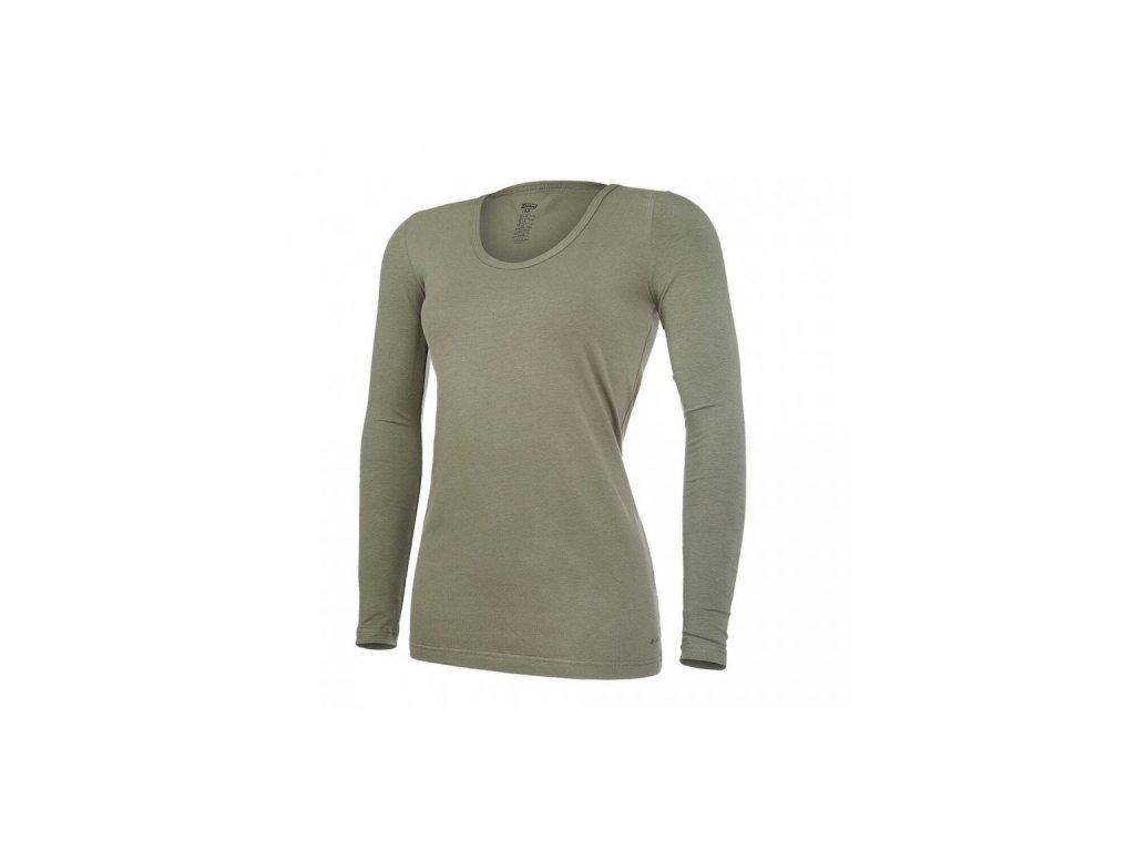 Tričko dámské DR tenké Outlast® - khaki
