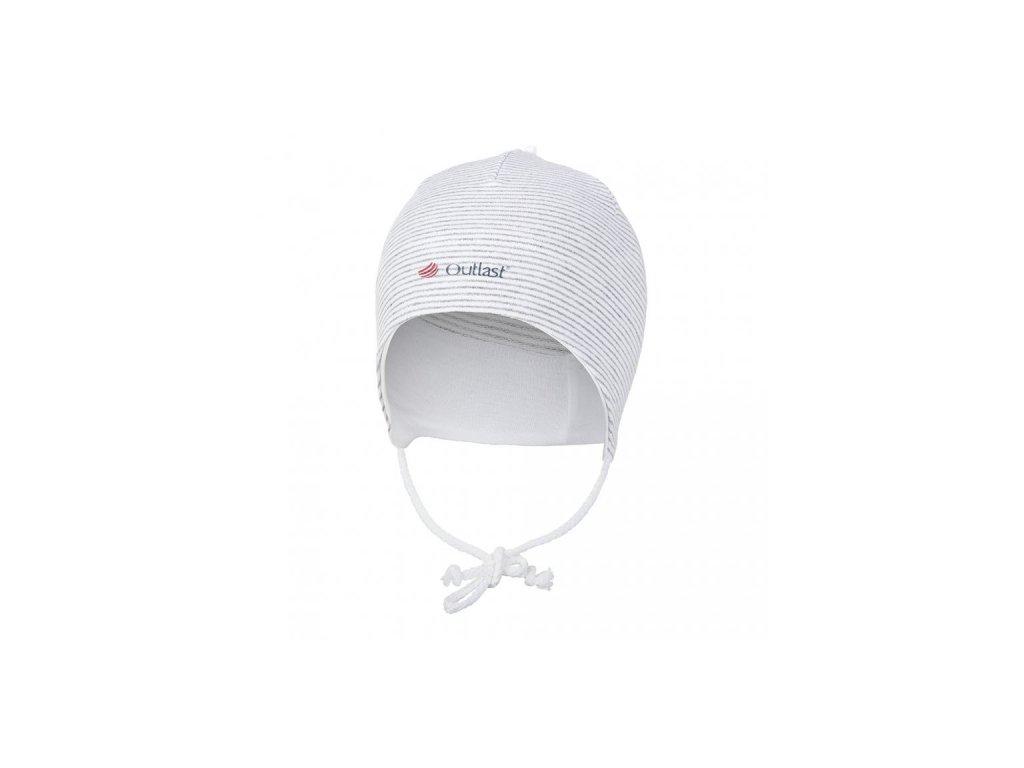 Čepice smyk zavazovací Outlast ® - pruh bílošedý melír