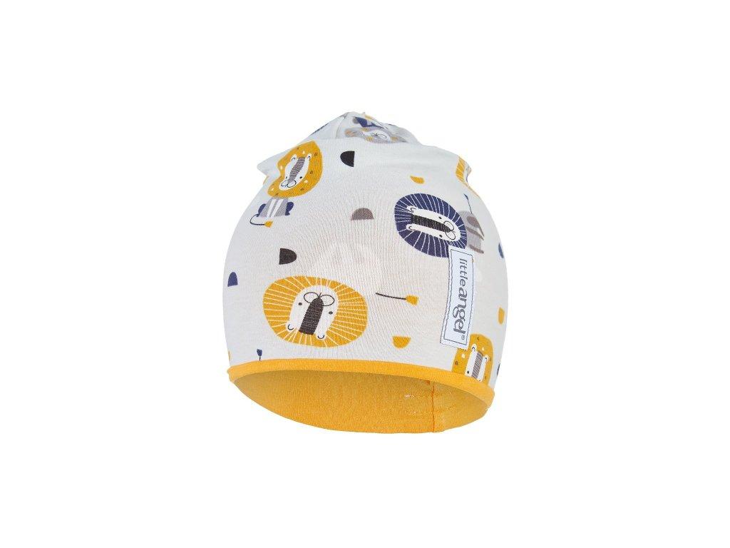 Čepice podšitá LEV Outlast® - béžová/žlutooranžová