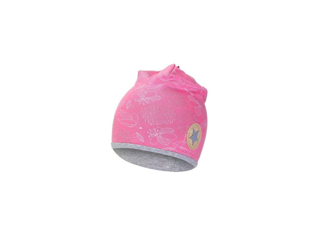 Čepice podšitá Outlast® - růžová lesk/šedý melír