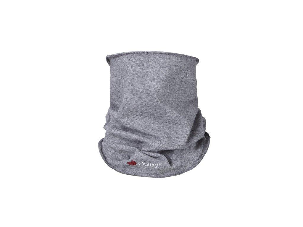 Nákrčník dětský tenký Outlast® - šedý melír