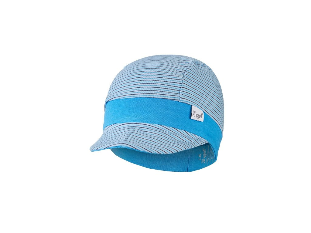 Kšiltovka tenká pruh Outlast® - pruh sv.modrý úzký/modrá