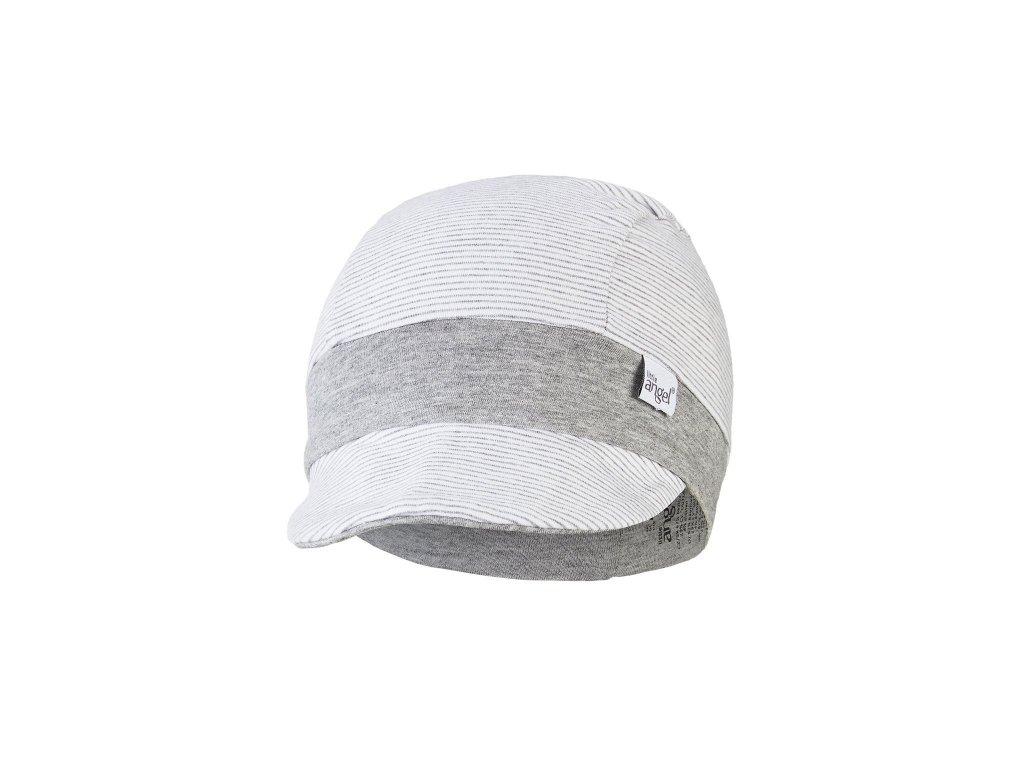 Kšiltovka tenká pruh Outlast® - pruh bílošedý melír/šedý melír