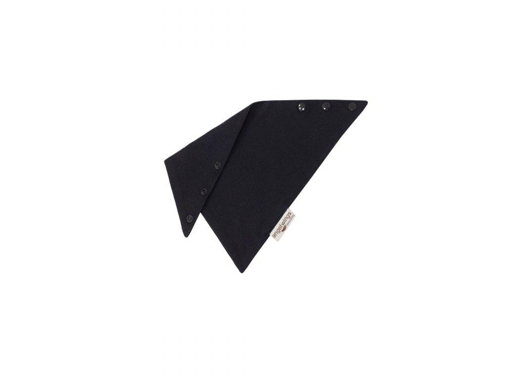 Angel Wings - trojhránek biobavlna černý