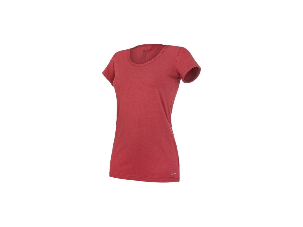 Tričko dámské KR tenké výstřih U Outlast® - bordová