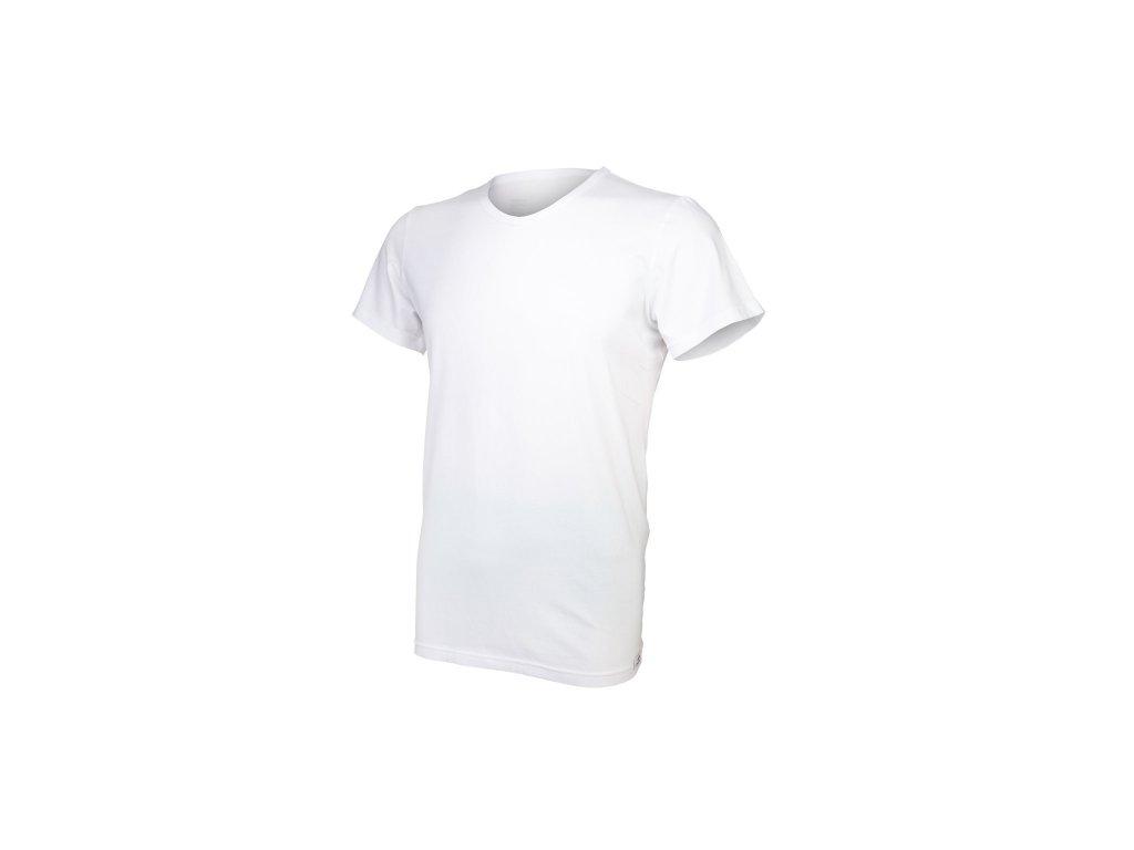 Tričko pánské KR tenké výstřih V Outlast® - bílá