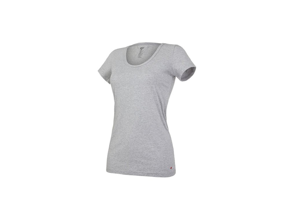 Tričko dámské KR tenké výstřih U Outlast® - šedý melír