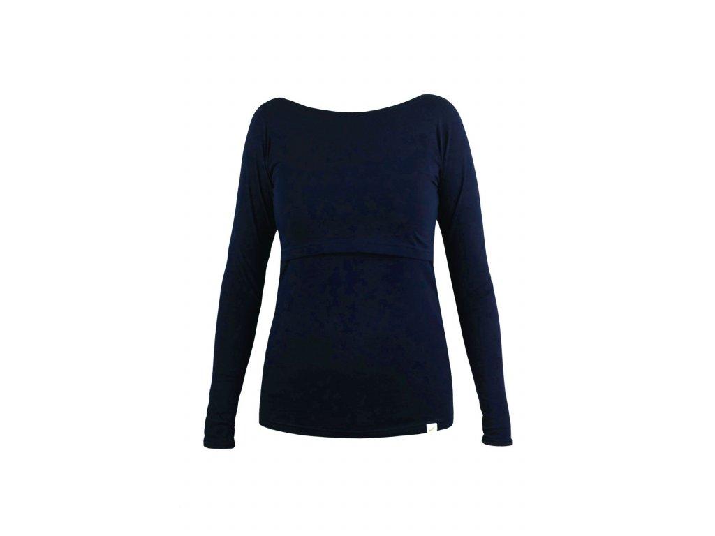 Angel Wings kojící tričko dl. rukáv - tmavě modrá