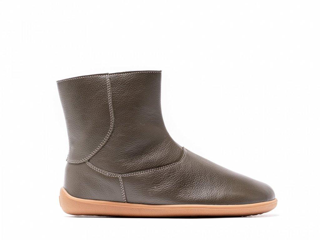 Barefoot kotníkové boty Be Lenka Polar – Olive Green