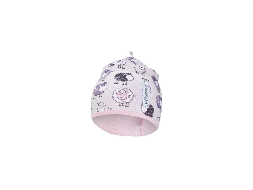 Čepice podšitá Outlast® - ovečky/růžová baby