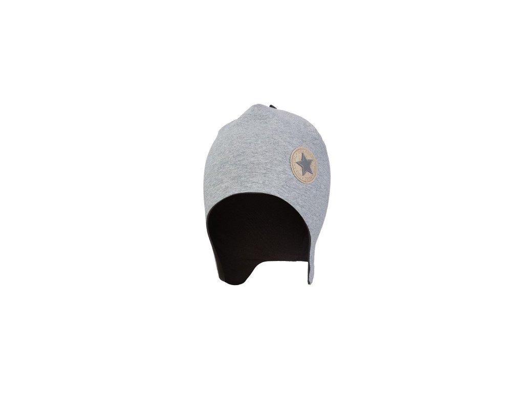 Čepice laponka podšitá Outlast ® - šedý melír/černá