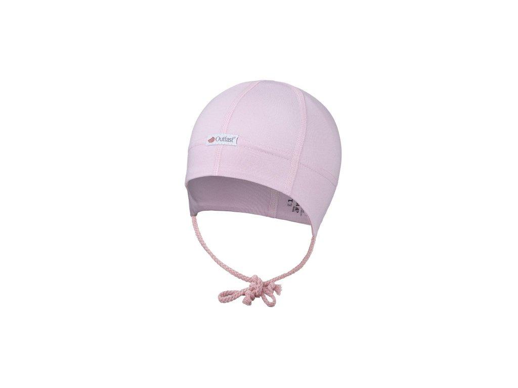 Čepice tenká zavazovací plochý šev Outlast® - růžová baby