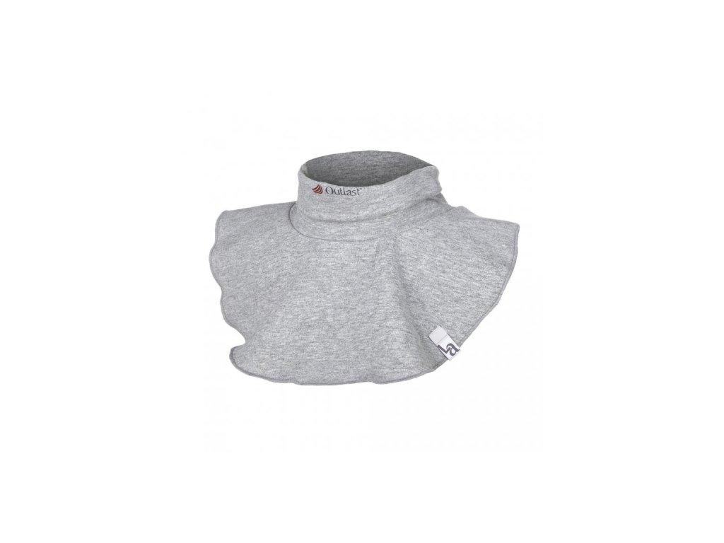 Nákrčník smyk Outlast® - šedý melír