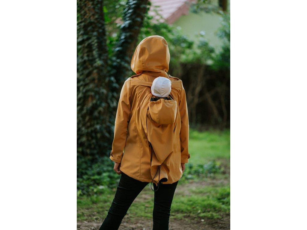 Softshellová nosicí bunda Kavka - Mustard