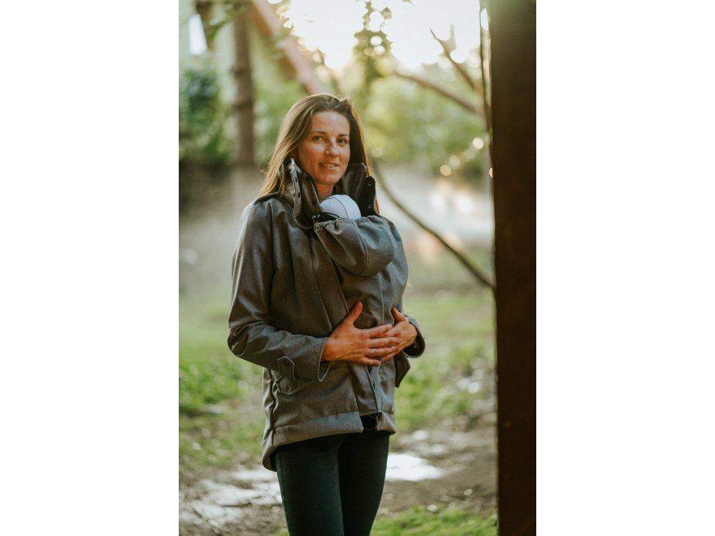 Softshellová nosicí bunda Kavka - Grey Melange