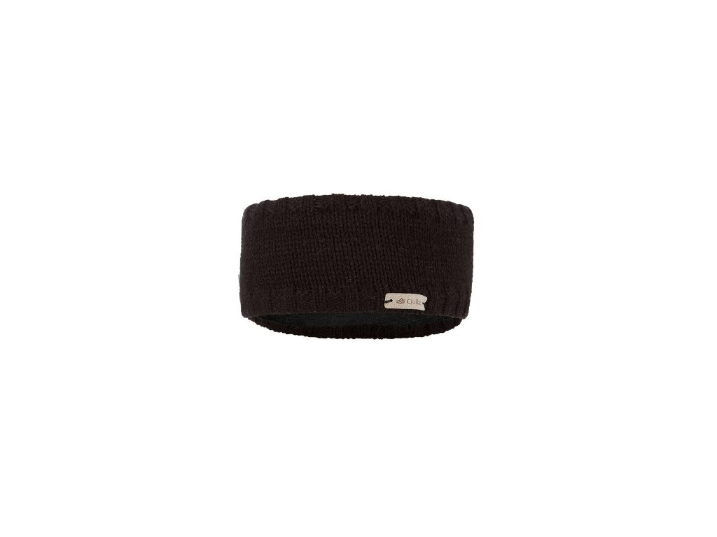 Čelenka pletená hladká Outlast ® - černá