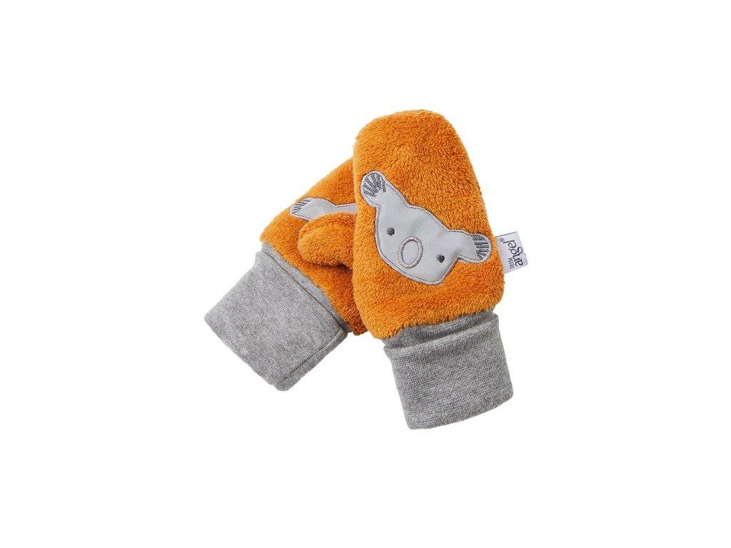 rukavice s palcem mazlik outlast medova