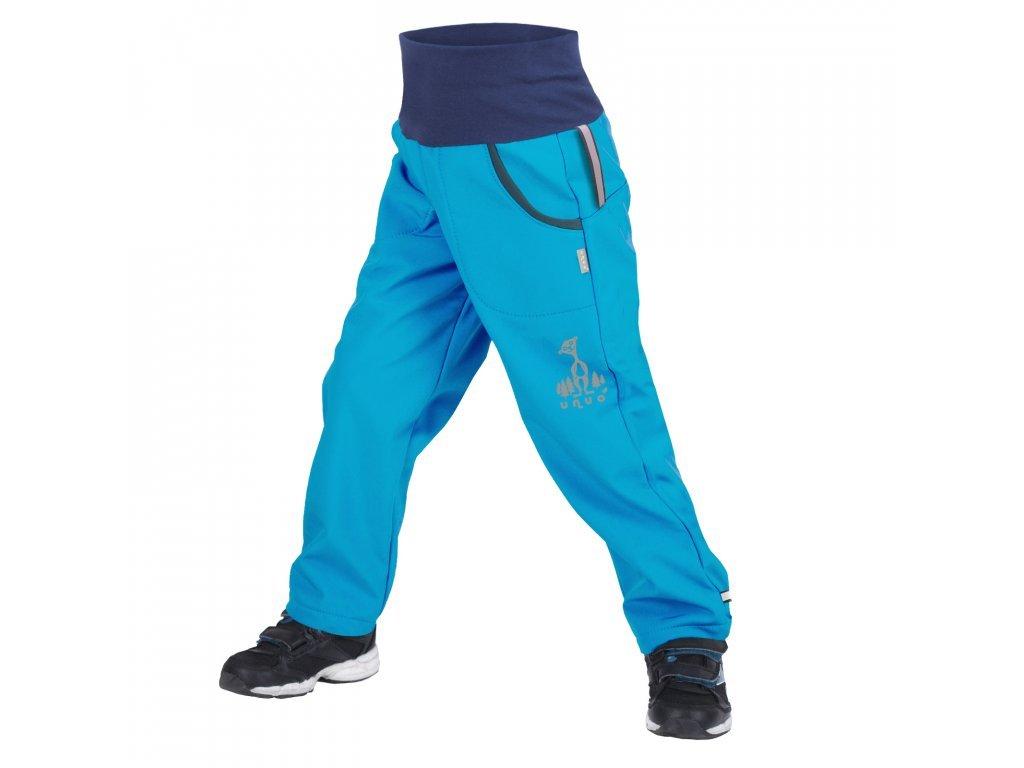 unuo detske softshellove kalhoty s fleecem tyrkysova (1)