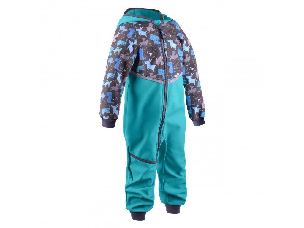 unuo batoleci softshellova kombineza s fleecem mini sv smaragdova pejsci (2)
