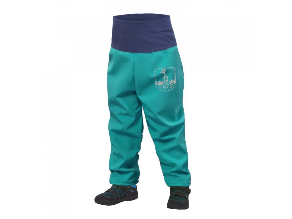unuo batoleci softshellove kalhoty s fleecem sv smaragdova (2)