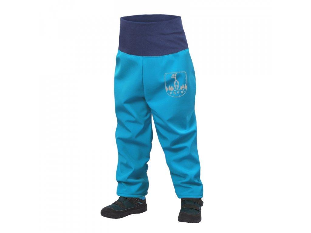 unuo batoleci softshellove kalhoty s fleecem tyrkysova (8)