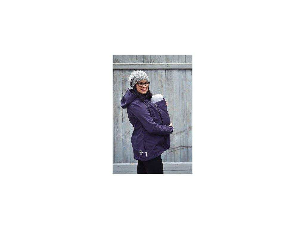 Angel Wings softshellová bunda na nošení - švestkově fialová