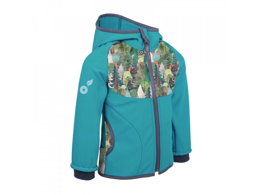 detska softshellova bunda s fleecem sv smaragdova kouzelne stromy (9)
