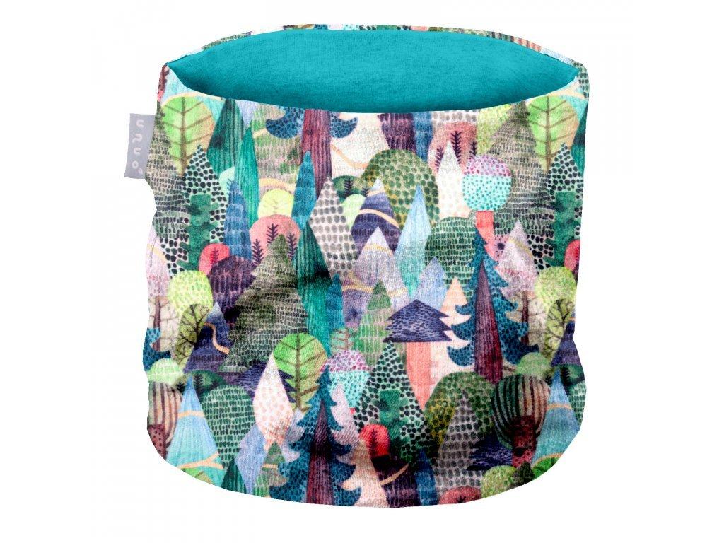 detsky nakrcnik fleecovy kouzelne stromy (1)