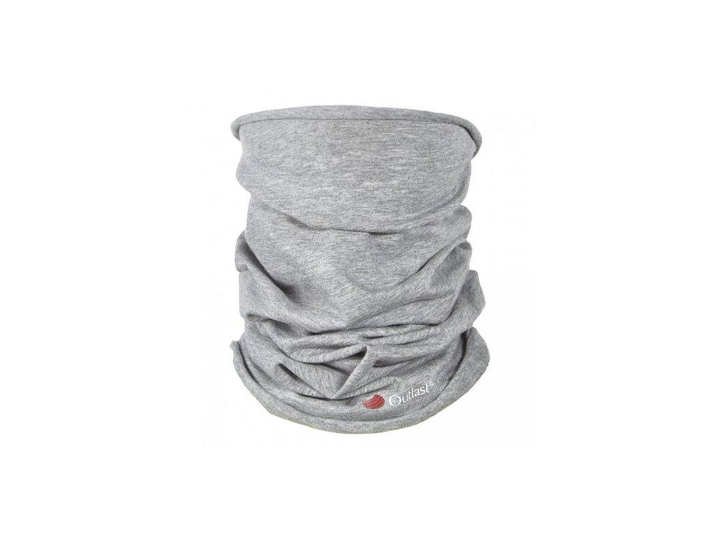 Nákrčník multifunkční tenký Outlast® - šedý melír
