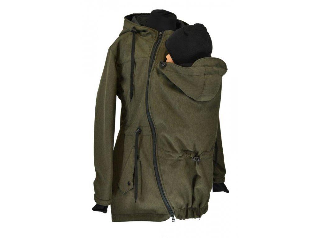 nosici softshellova parka khaki zihana zimni (2)