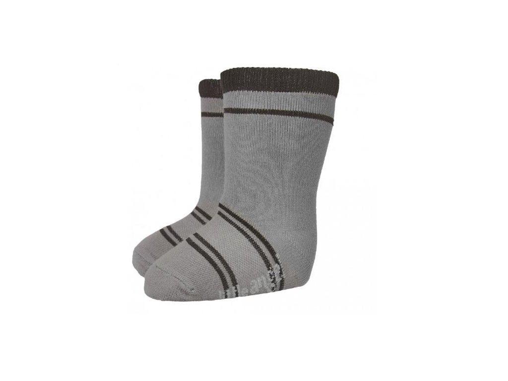 Ponožky STYL ANGEL - Outlast® - tm.šedá/černá