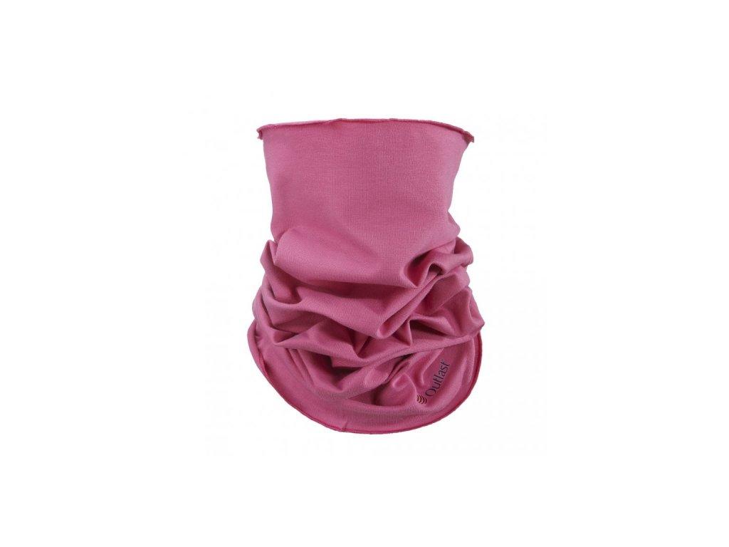 Nákrčník multifunkční tenký Outlast® - tmavě růžová