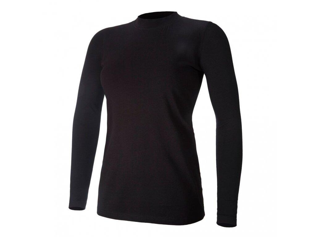 Tričko dámské DR tenké stojáček Outlast® - černá