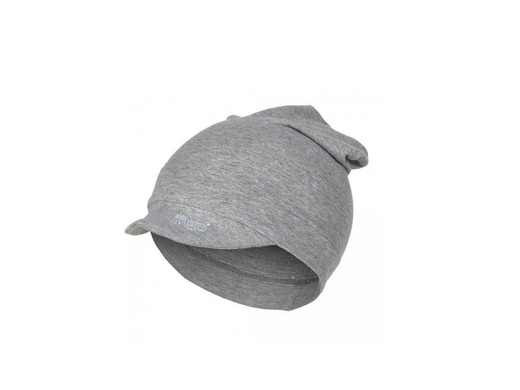 Kšiltovka smyk dlouhá Outlast® - šedý melír