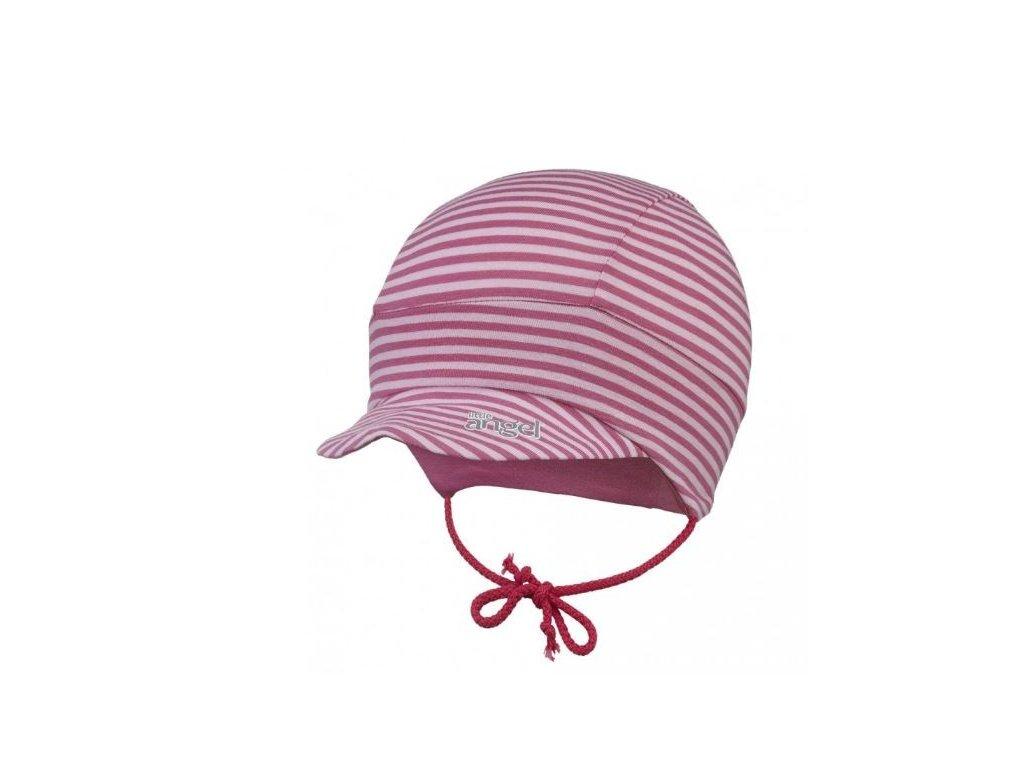 Kšiltovka tenká zavazovací Outlast® - pruh sv. růžový