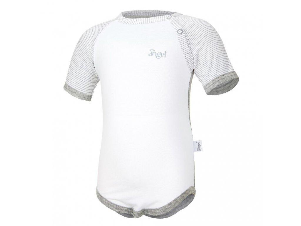 Body tenké KR Outlast® - šedý melír/pruh bílošedý