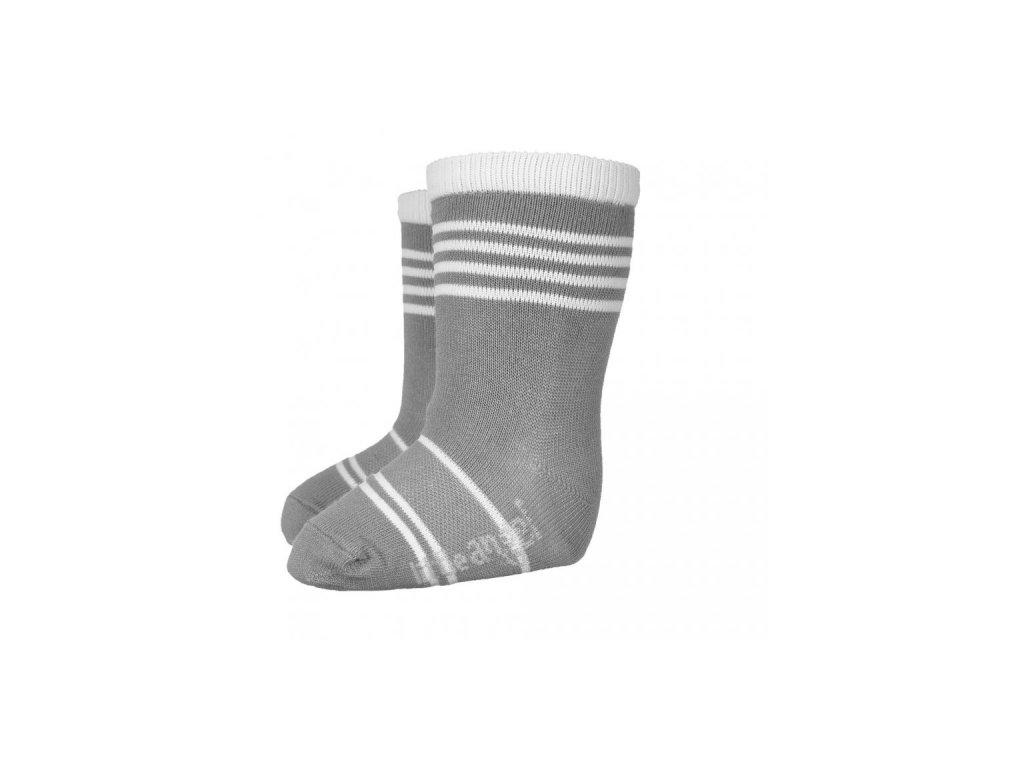 Ponožky STYL ANGEL - Outlast® - tm.šedá/bílá