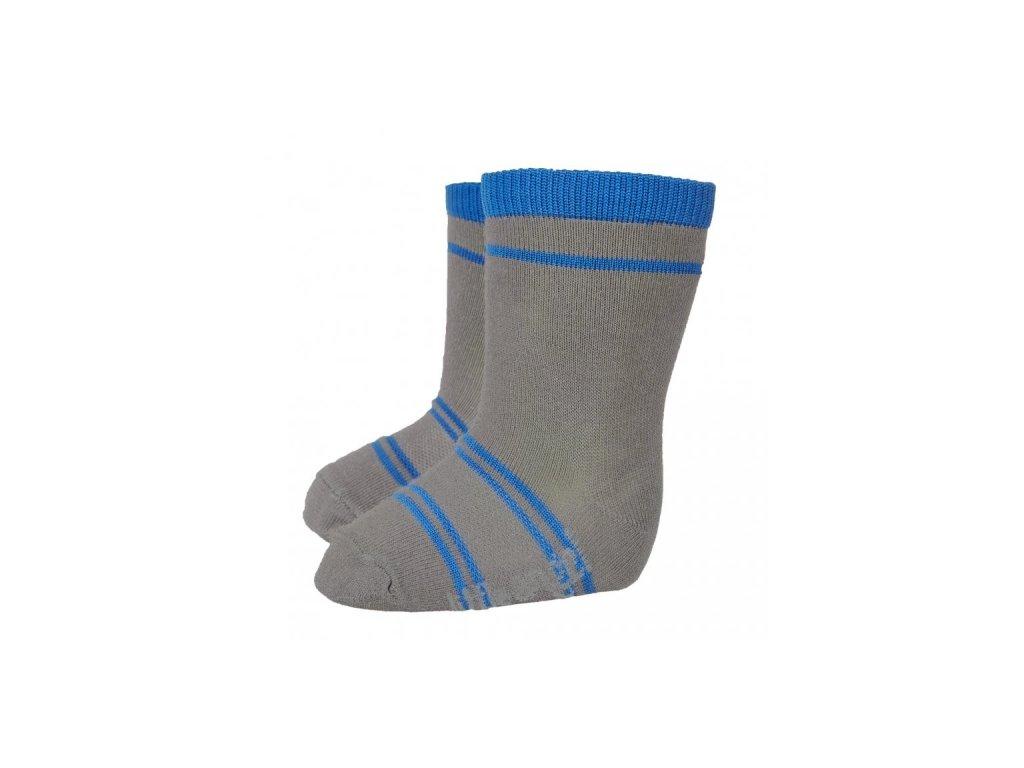Ponožky STYL ANGEL - Outlast® - tm.šedá/modrá