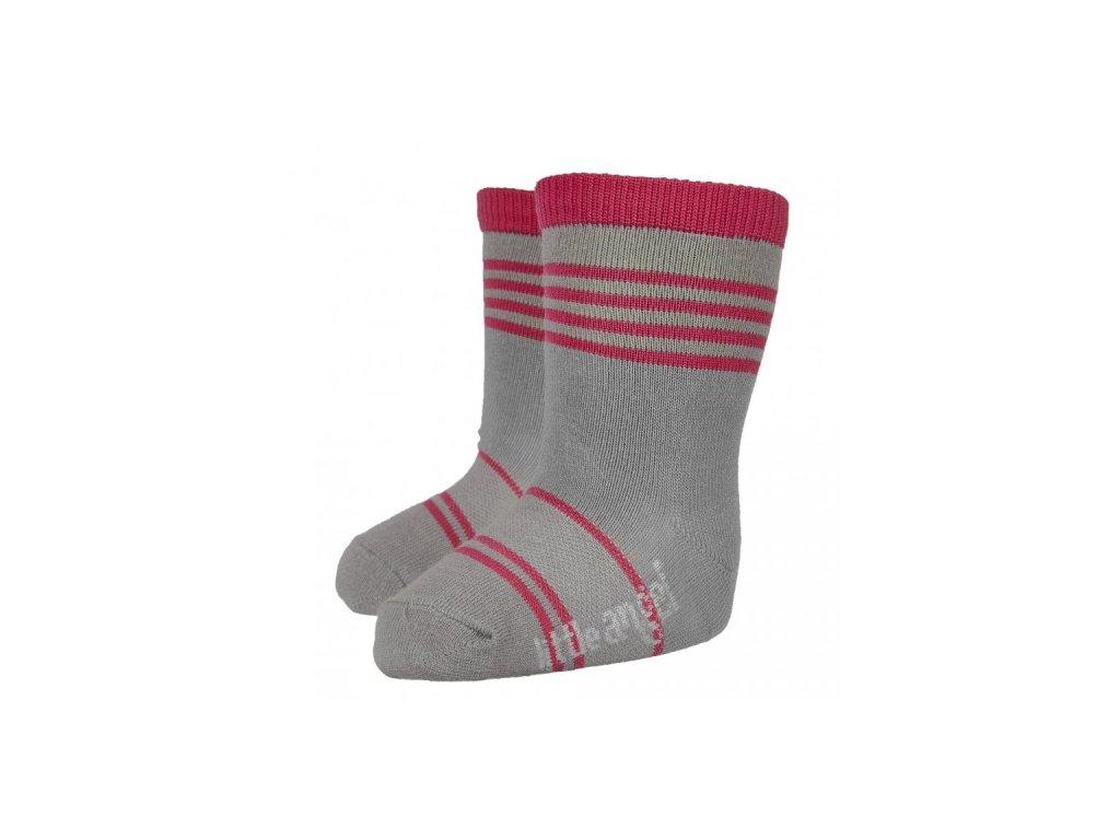 Ponožky STYL ANGEL - Outlast® - tm.šedá/malinová