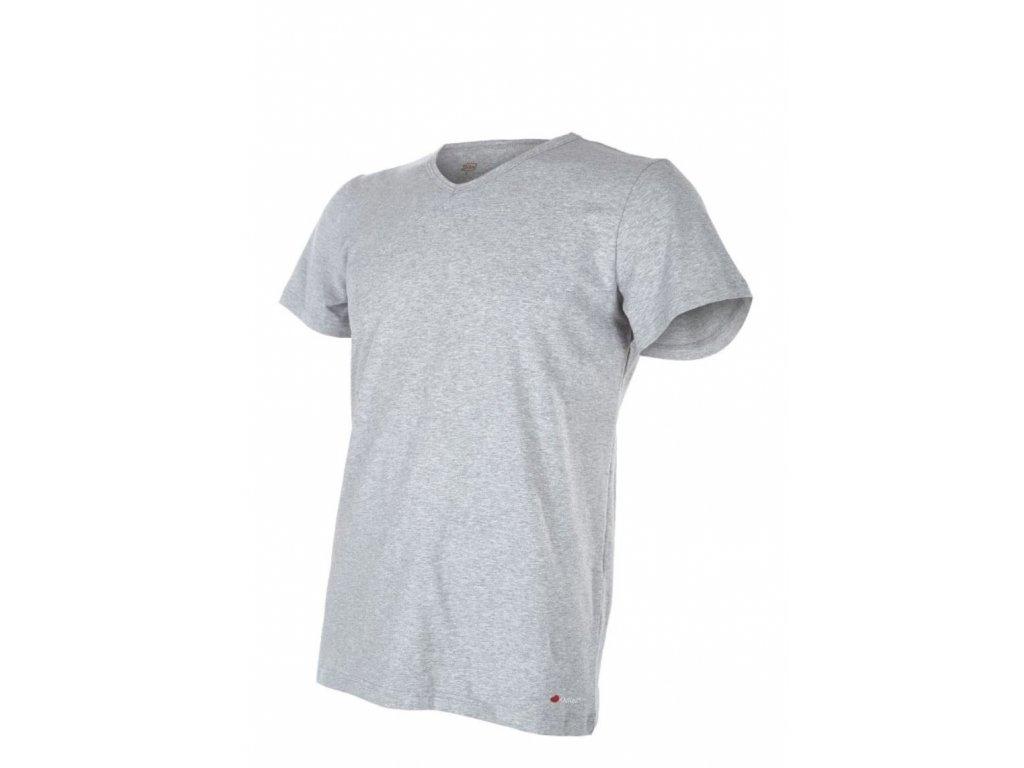 Tričko pánské KR tenké Outlast® - šedý melír