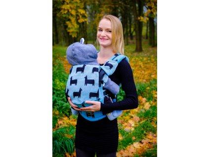 Nosítko Kavka/Pabelle Multi-Age Llama Blue + slintáčky