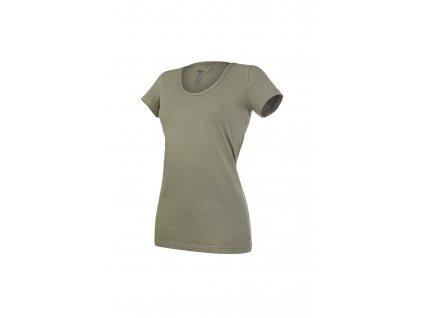 Tričko dámské KR tenké výstřih U Outlast® - khaki