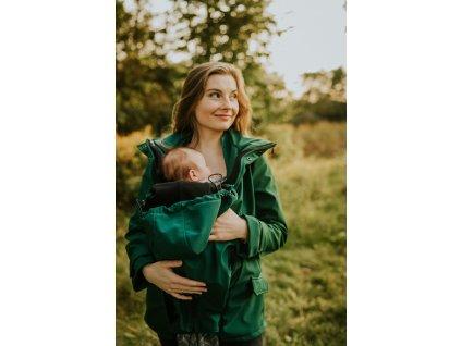 Softshellová nosicí bunda Kavka - Forest Green