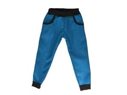 softshellove kalhoty bambusove petrolej