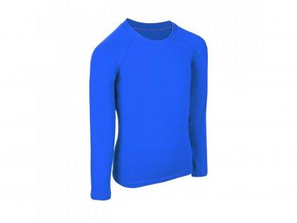 unuo detske bambusove triko s dlouhym rukavem modra kralovska (5)
