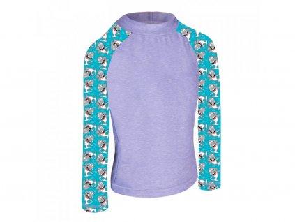unuo detske funkcni triko dl rukav se stojackem uv 50 zihana holubici seda zraloci (3)
