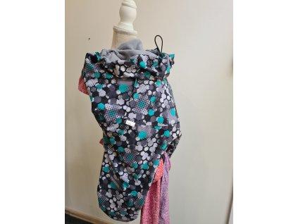 nosici kapsa softshellova velka zeleny hexagon seda (3)