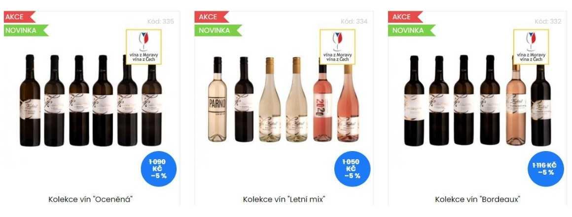 Výhodné kolekce vín