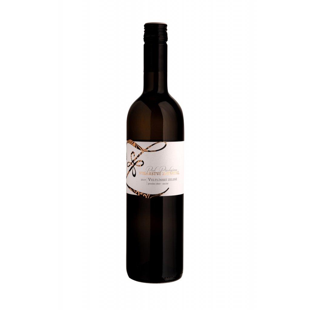 Veltlínské zelené | bílé víno | suché | pozdní sběr | 2019 | 0,75 l Vinařství Zapletal