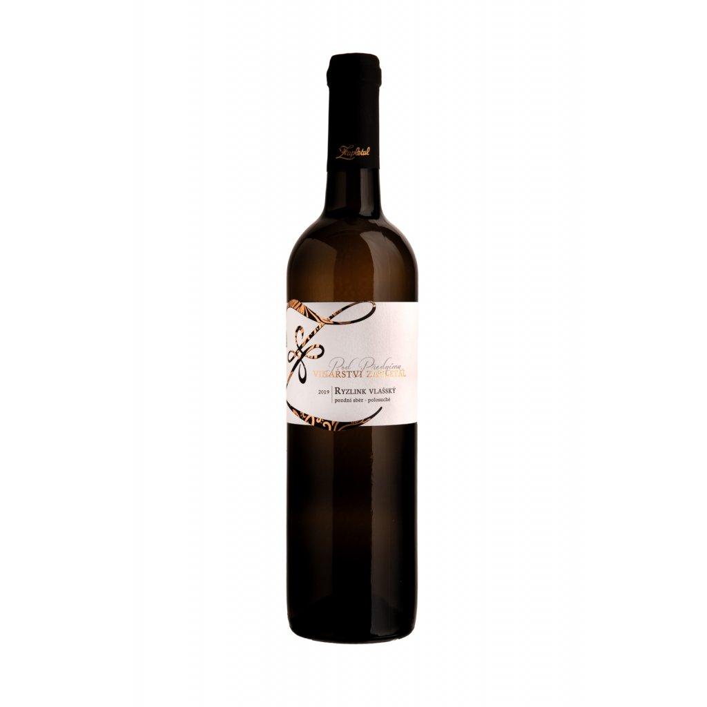 Ryzlink vlašský | bílé víno | polosuché | pozdní sběr | 2019 | 0,75 l Vinařství Zapletal